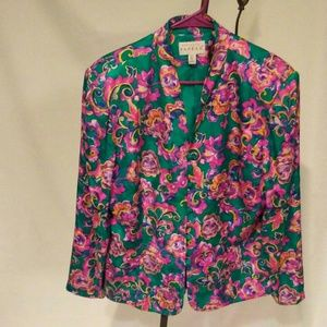 ADRIANNA PAPÉLL  Floral Silk Jacket